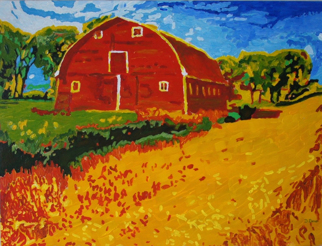 Northern Manitoba Barn, Acrylic on Canvas, 40x30x1.5inches