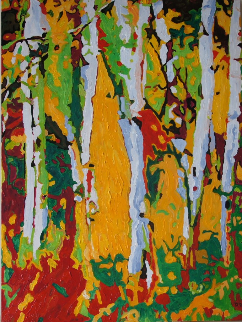 Autumn Gold, Acrylic on Canvas, 40x30x1.5 inches