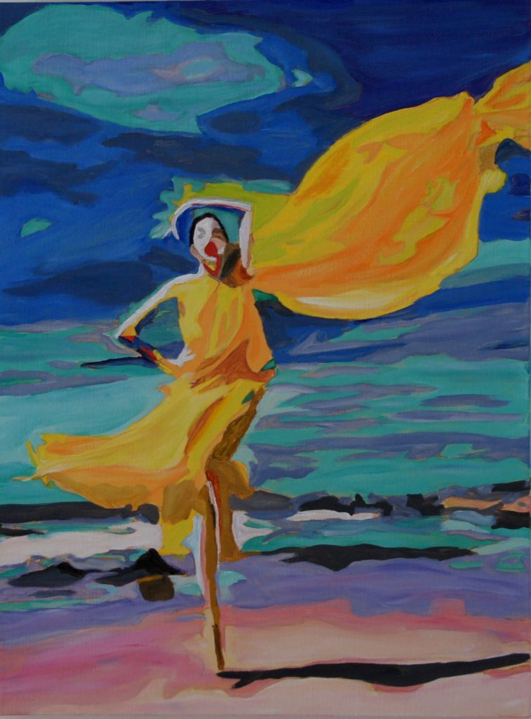 Dancing in the Wind, Acrylic on Canvas, 24x18, davedent.com