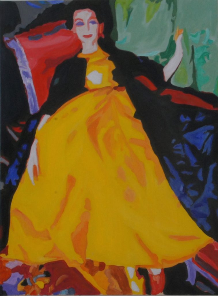 Past Elegance, Acrylic on Canvas, 24x18 inches, davedent.com