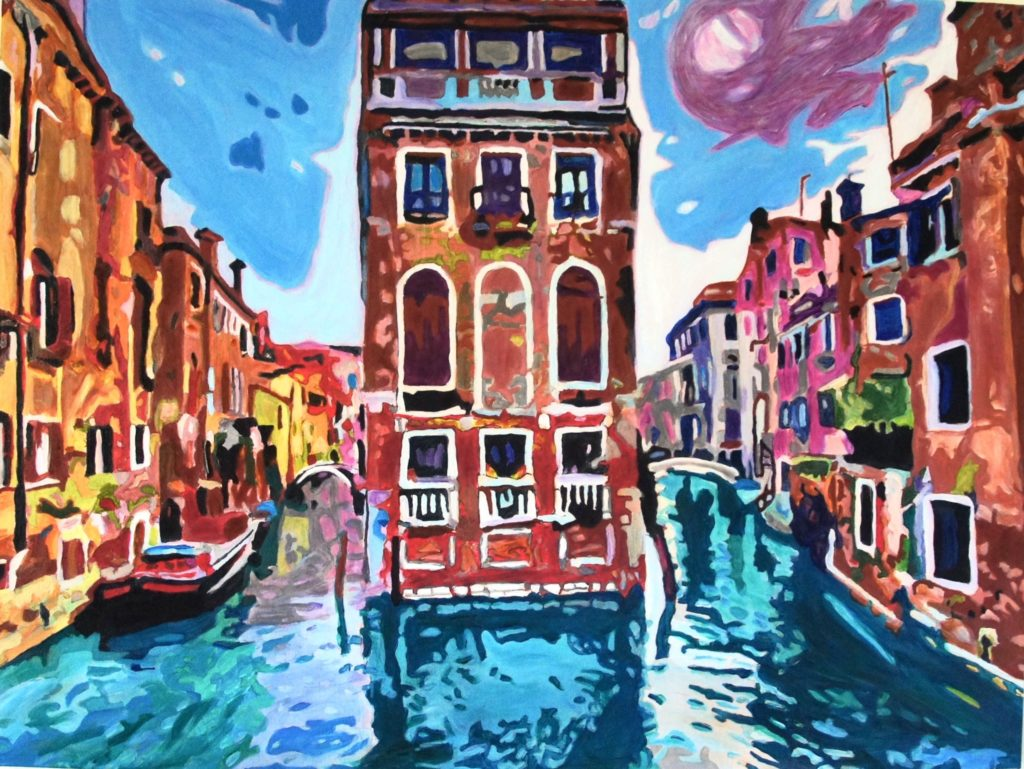 Venice Awakening, Acrylic on Canvas, 48x36 inches