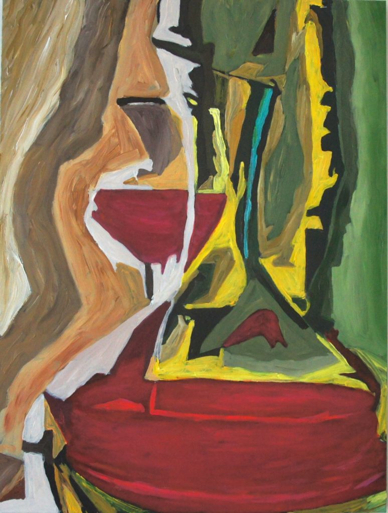 Red Wine Buzz, acrylic on canvas, 30x40 inches, davedent.com