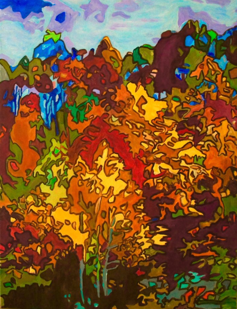Autumn Mosaic, acrylic on canvas, 30x40 inches