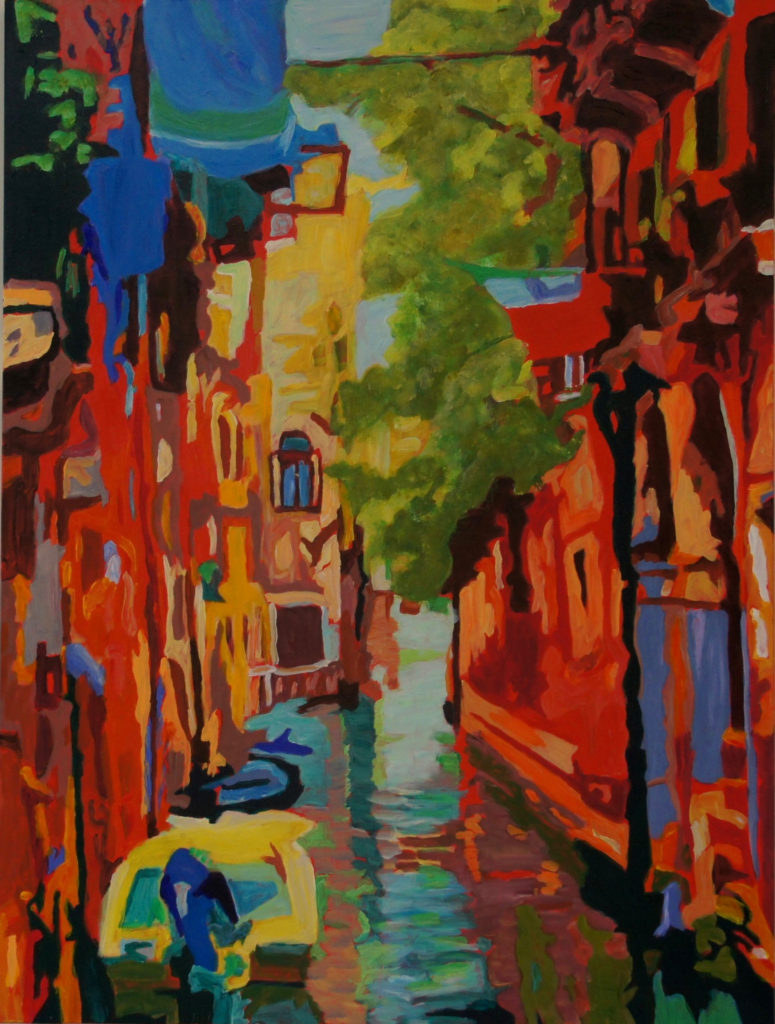 Venice Casual, acrylic on canvas, 30x40 inches, davedent.com