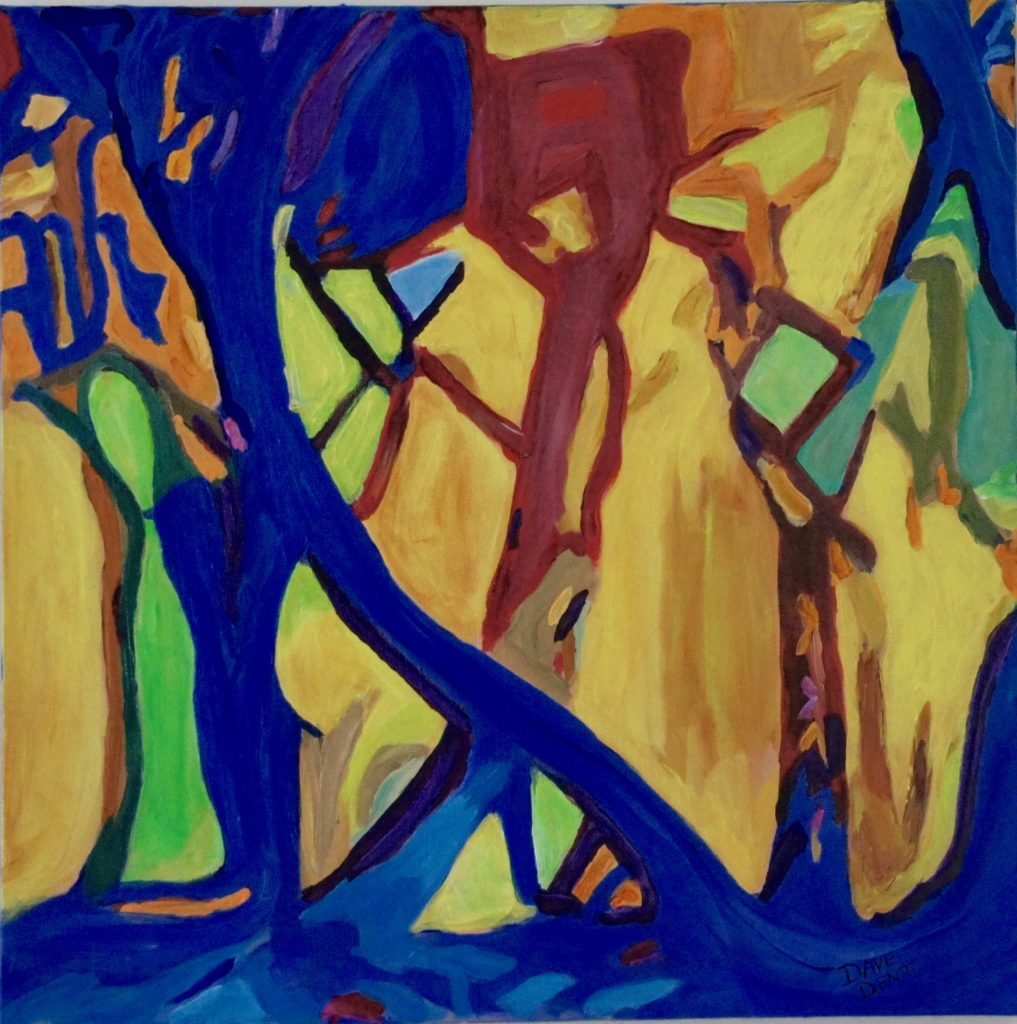 Dance Of The Trees, Acrylic on Canvas, 20x20 inches, davedent.com