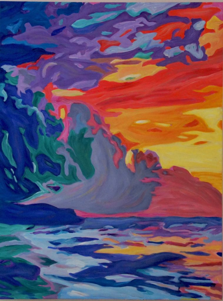 Sunset Magic, acrylic on canvas, 30x40 inches, davedent.com